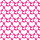 Hearts seamless background Royalty Free Stock Images
