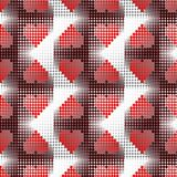 Hearts. Seamless background ripples wallpaper wave symbol stock illustration