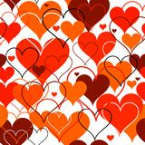 Hearts seamless Background. Vector Royalty Free Stock Photography