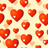 Hearts seamless background Royalty Free Stock Photography