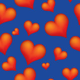 Hearts seamless background Royalty Free Stock Image