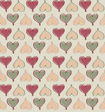Hearts Seamless background in vintage style. Royalty Free Stock Photography