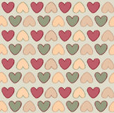 Hearts Seamless background in vintage style. Stock Photos