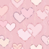 Hearts Seamless background in vintage style. Stock Photography