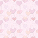 Hearts Seamless background in vintage style. Royalty Free Stock Photos