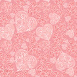 Hearts Seamless background in vintage style. Stock Image
