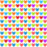 Hearts seamless colorful pattern Stock Photo