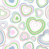 Hearts seamless pattern. Stock Image