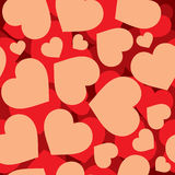Hearts seamless pattern. Many hearts pattern for wrapping paper Royalty Free Stock Images