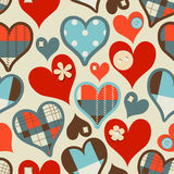 Hearts seamless pattern Stock Photography