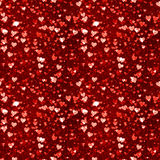 Hearts Seamless Pattern. Bitmap Illustration Royalty Free Stock Image