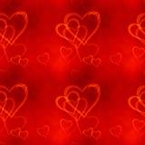 Hearts Seamless Pattern. Bitmap Illustration Royalty Free Stock Photos