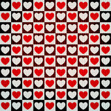 Hearts seamless pattern. Vector seamless pattern with hearts Stock Images