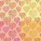 Hearts seamless pattern Stock Image