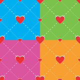 Hearts seamless pattern. For Valentines day Royalty Free Stock Image