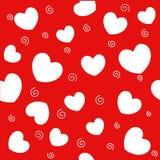 Hearts seamless pattern Stock Image
