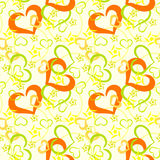 Hearts seamless pattern stock images