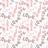 Hearts Seamless Pattern background Royalty Free Stock Photos