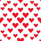 Hearts seamless pattern background for valentines day or wedding Stock Images