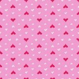 Hearts seamless pattern. Colorful pink hearts. Love. Valentine`s Royalty Free Stock Photo