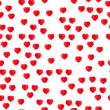 Hearts seamless pattern. Hearts flat seamless pattern background Royalty Free Stock Images