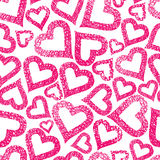 Hearts seamless pattern, Love theme background Stock Photo