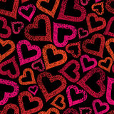 Hearts seamless pattern, Love theme seamless background, vector, Stock Image