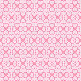 Hearts seamless pattern on pink background.Vector Illustration Stock Images
