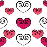 Hearts seamless pattern Royalty Free Stock Image