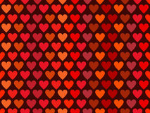 Hearts seamless pattern in red tones. Happy Valentines Day. Vector. Illustration Stock Photos