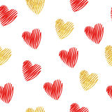 Hearts seamless pattern. Romantic background Stock Photos