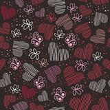 Hearts seamless pattern, romantic hearts seamless background Royalty Free Stock Image