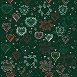 Hearts seamless pattern, romantic hearts seamless background Royalty Free Stock Photo