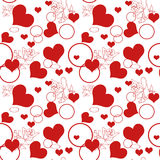 Hearts seamless pattern Stock Photo