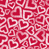 Hearts seamless pattern, Valentine theme seamless background, ve Stock Image