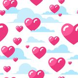 Hearts Seamless Pattern Valentines Day Background Design. Vector Illustration Royalty Free Illustration