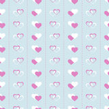 Hearts seamless pattern Royalty Free Stock Photo