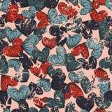 Hearts seamless pattern. Vector illustration Stock Photography