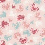 Hearts seamless pattern. Vector illustration Stock Photos