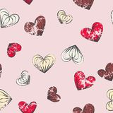 Hearts seamless pattern. Vector illustration Royalty Free Stock Images