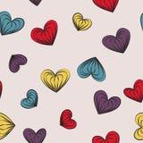 Hearts seamless pattern. Vector illustration Stock Photo