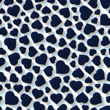 Hearts. Seamless pattern. Vector illustration Royalty Free Stock Images