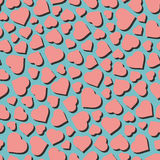 Hearts. Seamless pattern. Vector illustration Stock Images