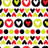 Hearts seamless pattern Stock Photos