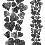 Hearts seamless pattern, vertical composition, Love theme seamle Royalty Free Stock Photo