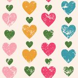 Hearts seamless pattern. Vertically disposed hearts. Vector illu Royalty Free Stock Images