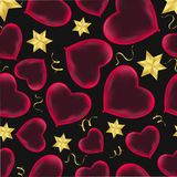 Hearts seamless pattern Wrapping paper design Scrapbook Valentine`s day. Eps.10 vector illustration
