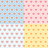 Hearts seamless Stock Photography