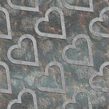 Hearts. Seamless stone pattern Royalty Free Stock Images