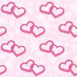 Hearts seamless texture Stock Photo